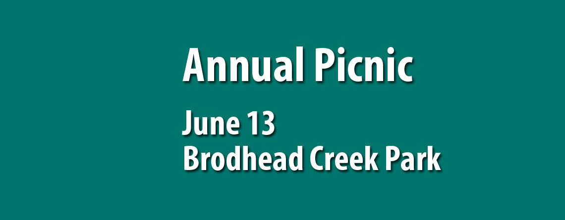 Annual Chapter Picnic June 13 at Brodhead Creek Park
